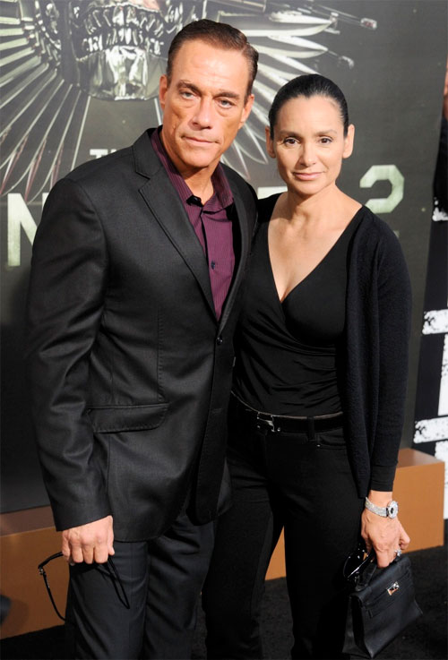 Jean-Claude Van Damme and Gladys Portugues in 2012